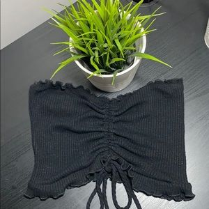 Urban Planet Black Cropped Tube Top